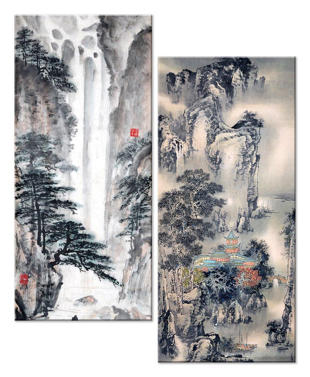 Модульная картина «Японский полиптих»Природа<br>Модульная картина на натуральном холсте и деревянном подрамнике. Подвес в комплекте. Трехслойная надежная упаковка. Доставим в любую точку России. Вам осталось только повесить картину на стену!<br>