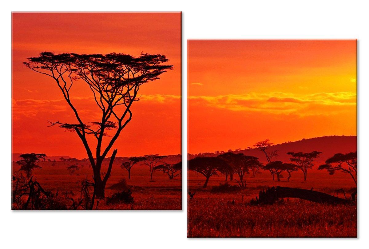 Модульная картина «Знойный закат»Африканские мотивы<br>Модульная картина на натуральном холсте и деревянном подрамнике. Подвес в комплекте. Трехслойная надежная упаковка. Доставим в любую точку России. Вам осталось только повесить картину на стену!<br>