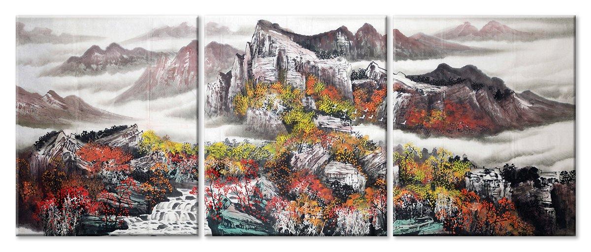 Модульная картина «Японский триптих»Природа<br>Модульная картина на натуральном холсте и деревянном подрамнике. Подвес в комплекте. Трехслойная надежная упаковка. Доставим в любую точку России. Вам осталось только повесить картину на стену!<br>