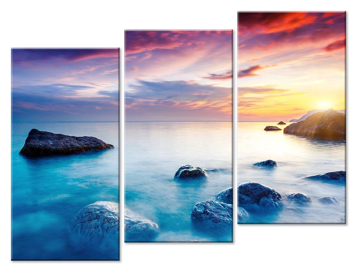 Модульная картина «Морской туман», 66x50 см, модульная картинаМоре<br>Модульная картина на натуральном холсте и деревянном подрамнике. Подвес в комплекте. Трехслойная надежная упаковка. Доставим в любую точку России. Вам осталось только повесить картину на стену!<br>