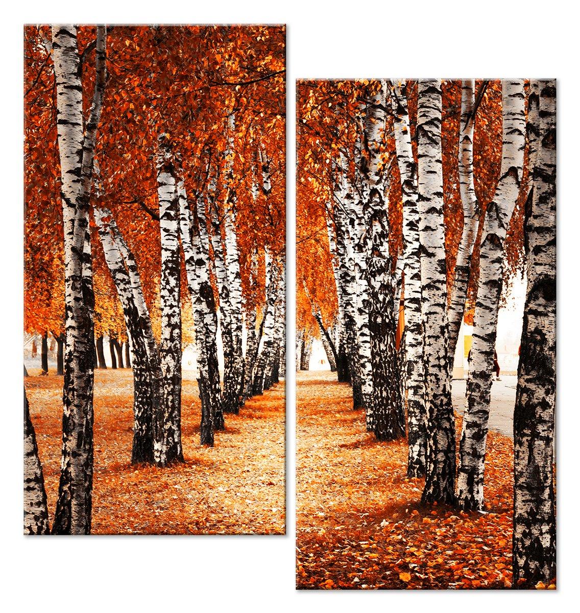 Модульная картина «Березовая аллея осенью»Природа<br>Модульная картина на натуральном холсте и деревянном подрамнике. Подвес в комплекте. Трехслойная надежная упаковка. Доставим в любую точку России. Вам осталось только повесить картину на стену!<br>