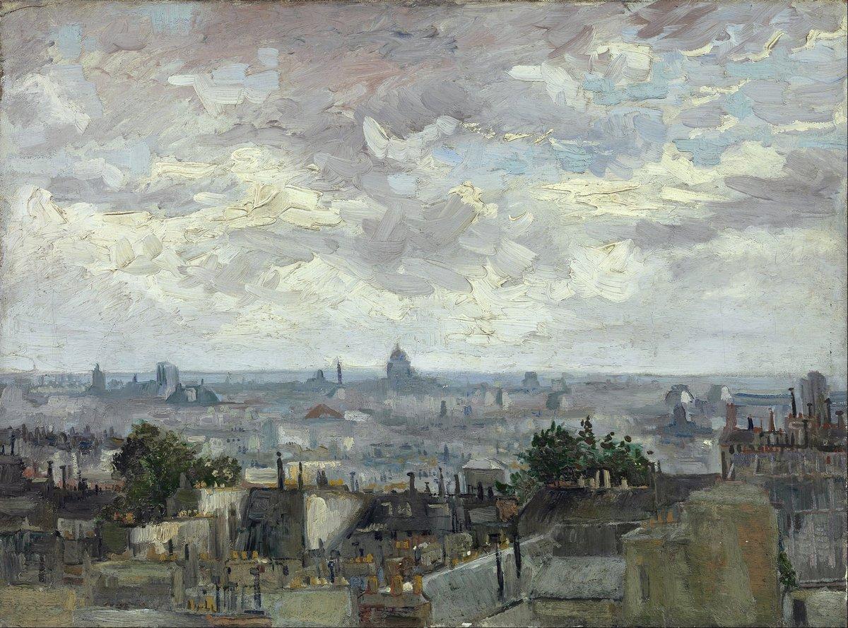 Пленэр, картина Ван Гог Винсент «Вид на крыши Парижа»Пленэр<br>Репродукция на холсте или бумаге. Любого нужного вам размера. В раме или без. Подвес в комплекте. Трехслойная надежная упаковка. Доставим в любую точку России. Вам осталось только повесить картину на стену!<br>