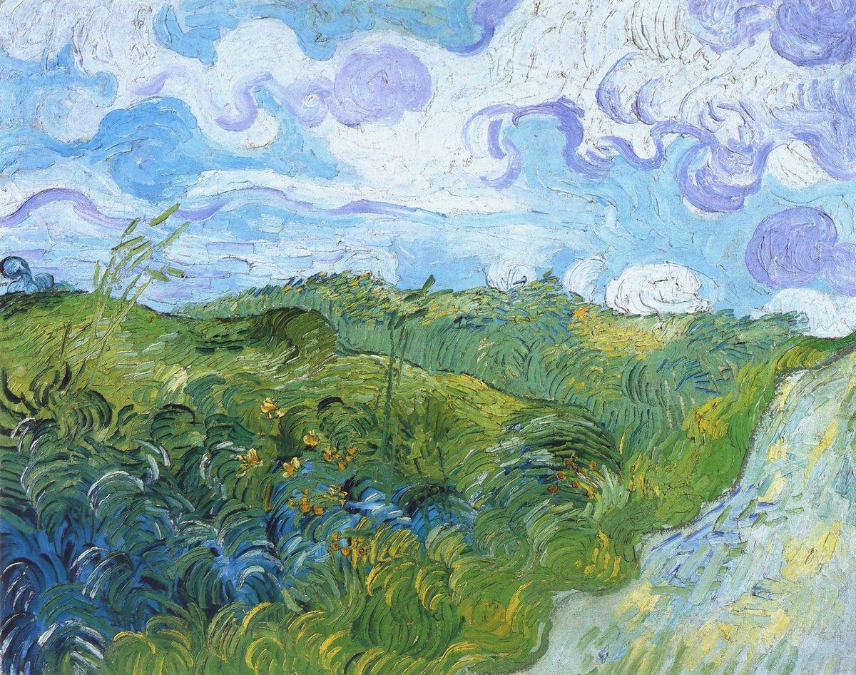 Пленэр, картина Ван Гог Винсент «Зеленое пшеничное поле»Пленэр<br>Репродукция на холсте или бумаге. Любого нужного вам размера. В раме или без. Подвес в комплекте. Трехслойная надежная упаковка. Доставим в любую точку России. Вам осталось только повесить картину на стену!<br>