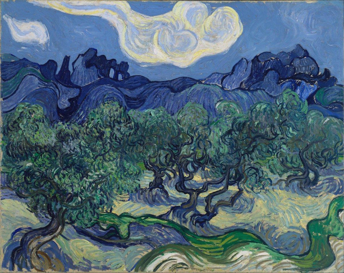 Пленэр, картина Ван Гог Винсент «Оливковые деревья на фоне Альп»Пленэр<br>Репродукция на холсте или бумаге. Любого нужного вам размера. В раме или без. Подвес в комплекте. Трехслойная надежная упаковка. Доставим в любую точку России. Вам осталось только повесить картину на стену!<br>