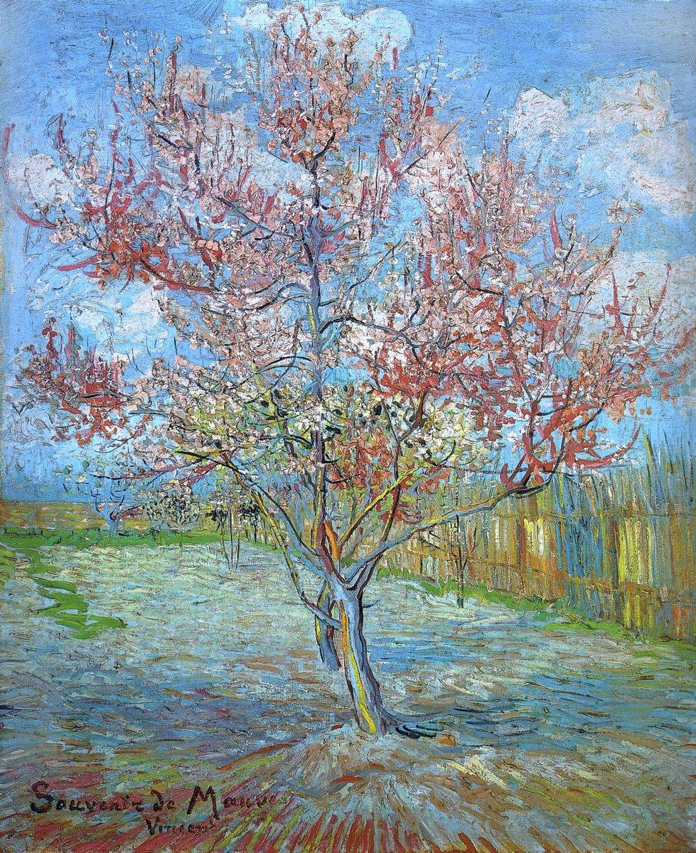 Пленэр, картина Ван Гог Винсент «Персиковое дерево в цветах, 1888»Пленэр<br>Репродукция на холсте или бумаге. Любого нужного вам размера. В раме или без. Подвес в комплекте. Трехслойная надежная упаковка. Доставим в любую точку России. Вам осталось только повесить картину на стену!<br>