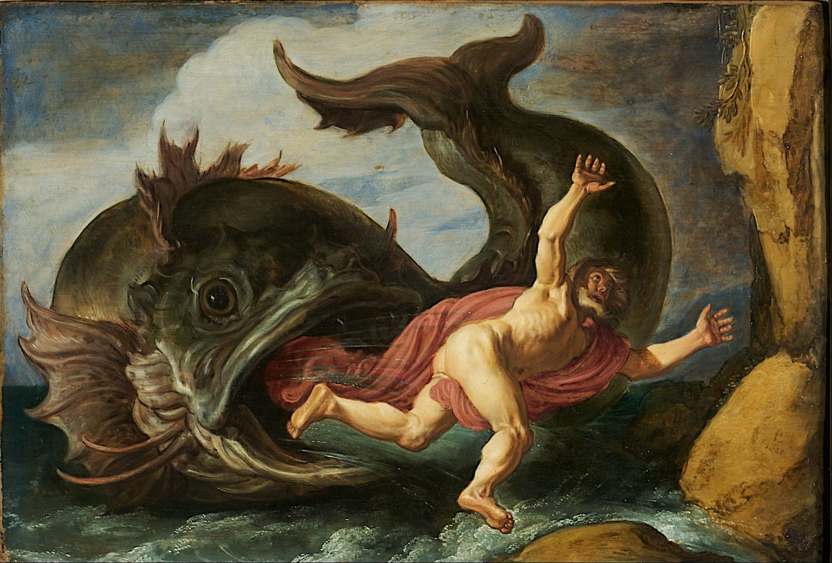 Мифические животные, картина Питер Ластман «Иона и кит»Мифические животные<br>Репродукция на холсте или бумаге. Любого нужного вам размера. В раме или без. Подвес в комплекте. Трехслойная надежная упаковка. Доставим в любую точку России. Вам осталось только повесить картину на стену!<br>