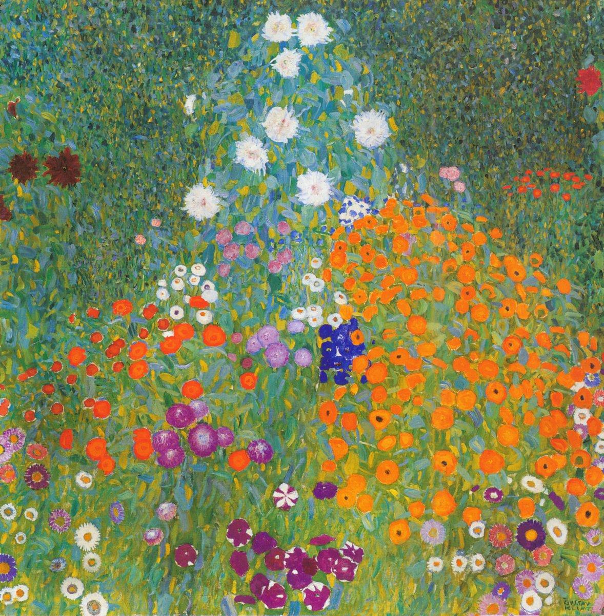 Яркие картины, картина Климт Густав «Цветочный сад»Яркие картины<br>Репродукция на холсте или бумаге. Любого нужного вам размера. В раме или без. Подвес в комплекте. Трехслойная надежная упаковка. Доставим в любую точку России. Вам осталось только повесить картину на стену!<br>