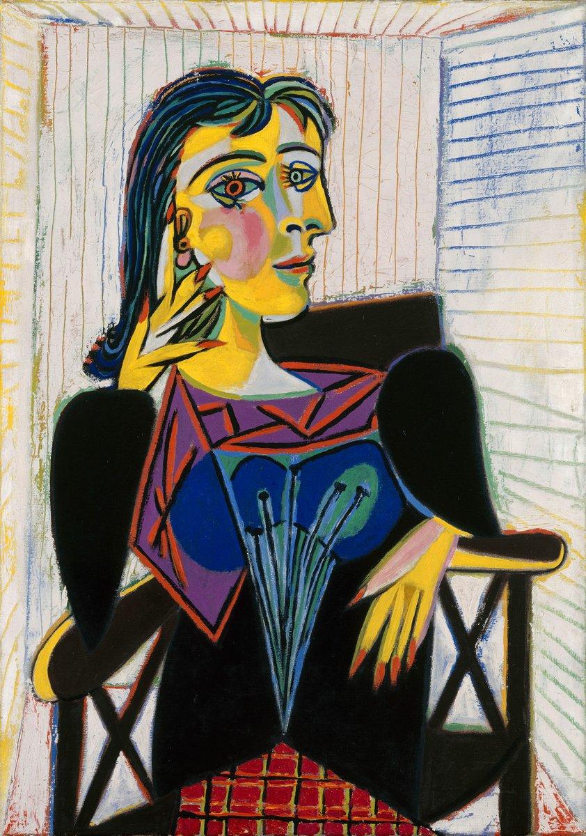 Яркие картины, картина Пикассо Пабло «Портрет Доры Маар»Яркие картины<br>Репродукция на холсте или бумаге. Любого нужного вам размера. В раме или без. Подвес в комплекте. Трехслойная надежная упаковка. Доставим в любую точку России. Вам осталось только повесить картину на стену!<br>