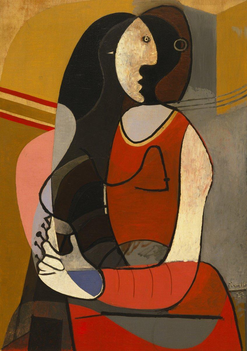 Яркие картины, картина Пикассо Пабло «Сидящая женщина»Яркие картины<br>Репродукция на холсте или бумаге. Любого нужного вам размера. В раме или без. Подвес в комплекте. Трехслойная надежная упаковка. Доставим в любую точку России. Вам осталось только повесить картину на стену!<br>
