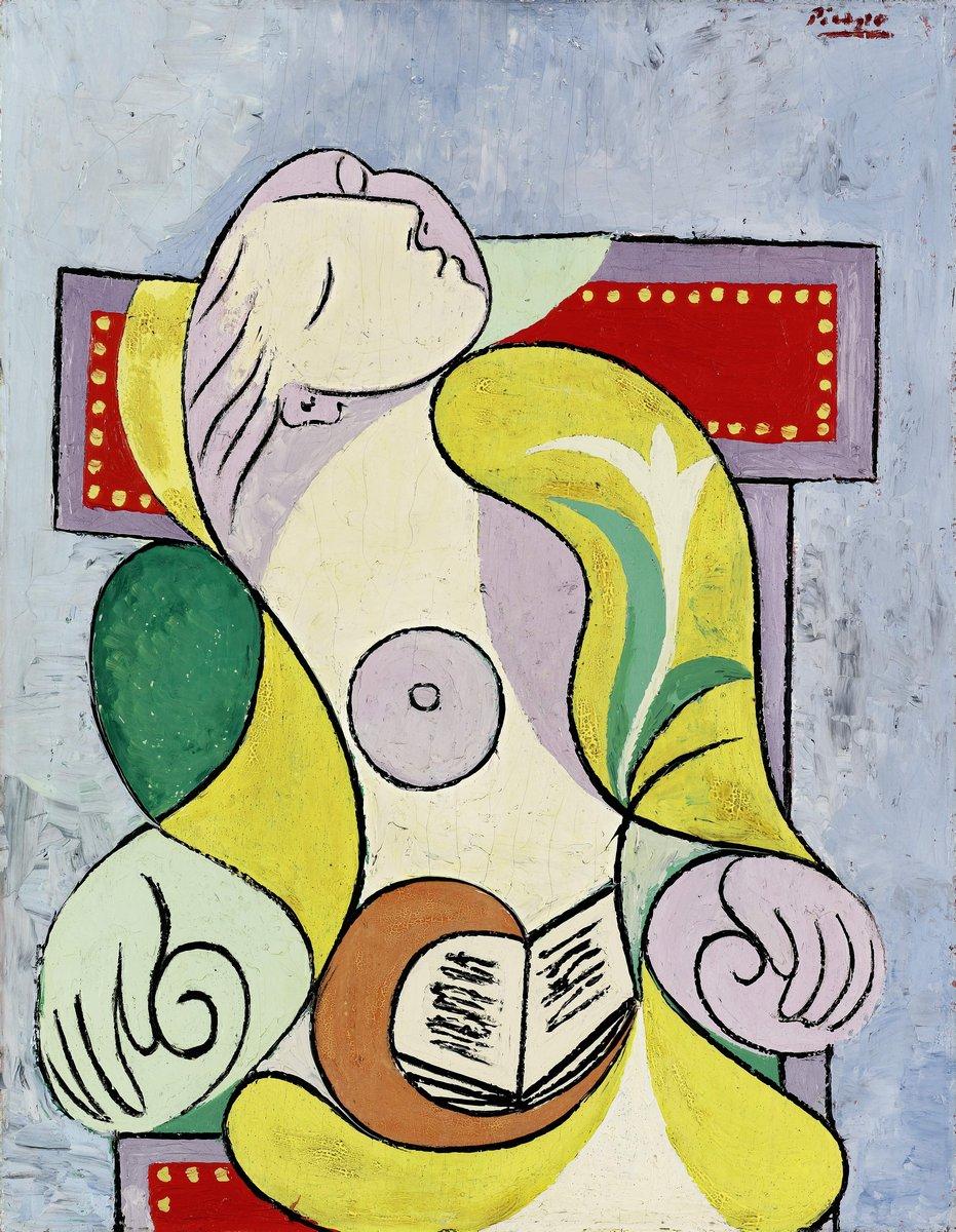 Яркие картины, картина Пикассо Пабло «Чтение»Яркие картины<br>Репродукция на холсте или бумаге. Любого нужного вам размера. В раме или без. Подвес в комплекте. Трехслойная надежная упаковка. Доставим в любую точку России. Вам осталось только повесить картину на стену!<br>