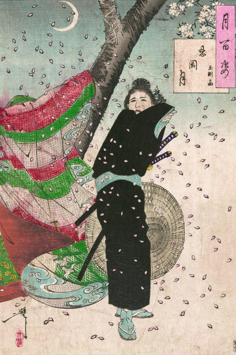 Японская гравюра Японские гравюры, Молодой самурайский воин Гёкуэнзай, пораженный летящими лепестками, 20x30 см, на бумагеЦукиока Йоситоси<br>Постер на холсте или бумаге. Любого нужного вам размера. В раме или без. Подвес в комплекте. Трехслойная надежная упаковка. Доставим в любую точку России. Вам осталось только повесить картину на стену!<br>