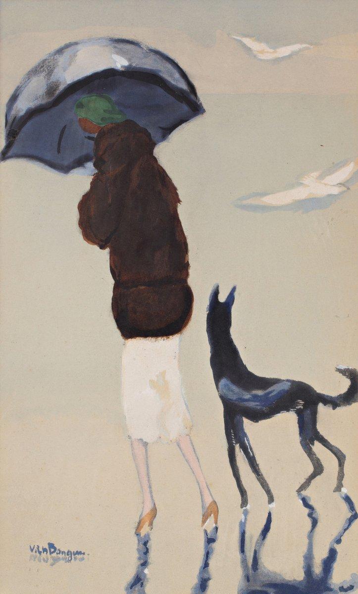 Донген Кес ван, картина Женщина под зонтиком с собакойДонген Кес ван<br>Репродукция на холсте или бумаге. Любого нужного вам размера. В раме или без. Подвес в комплекте. Трехслойная надежная упаковка. Доставим в любую точку России. Вам осталось только повесить картину на стену!<br>