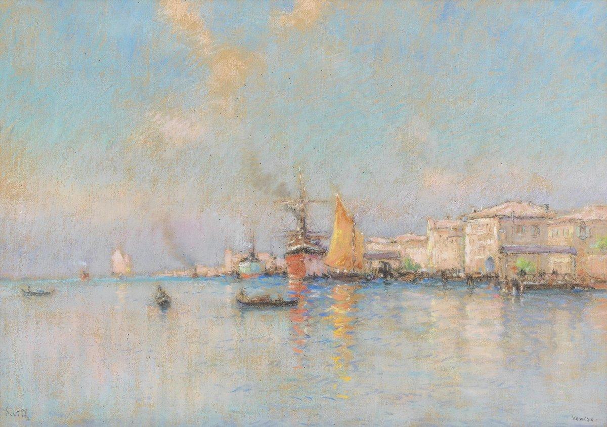 Пейзаж морской Айвилл Йозеф «Лодки около Венеции»Пейзаж морской<br>Репродукция на холсте или бумаге. Любого нужного вам размера. В раме или без. Подвес в комплекте. Трехслойная надежная упаковка. Доставим в любую точку России. Вам осталось только повесить картину на стену!<br>