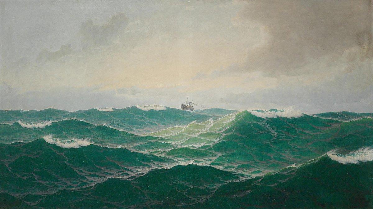Пейзаж морской Йенсен Макс «Атлантический океан»Пейзаж морской<br>Репродукция на холсте или бумаге. Любого нужного вам размера. В раме или без. Подвес в комплекте. Трехслойная надежная упаковка. Доставим в любую точку России. Вам осталось только повесить картину на стену!<br>