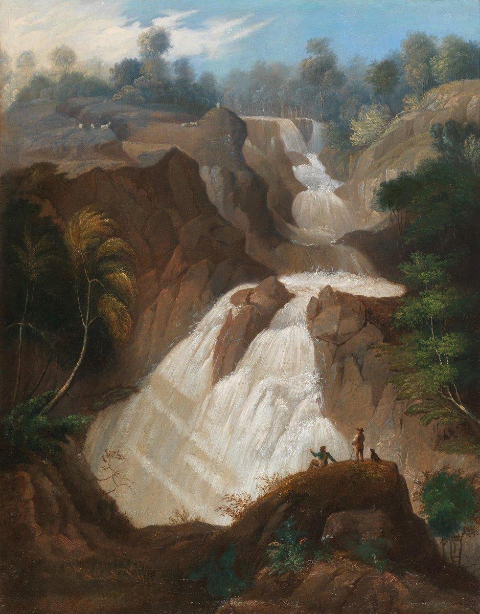 Пейзаж горный и водопады Неизвестный художник «Итальянский горный пейзаж»Пейзаж горный и водопады<br>Репродукция на холсте или бумаге. Любого нужного вам размера. В раме или без. Подвес в комплекте. Трехслойная надежная упаковка. Доставим в любую точку России. Вам осталось только повесить картину на стену!<br>
