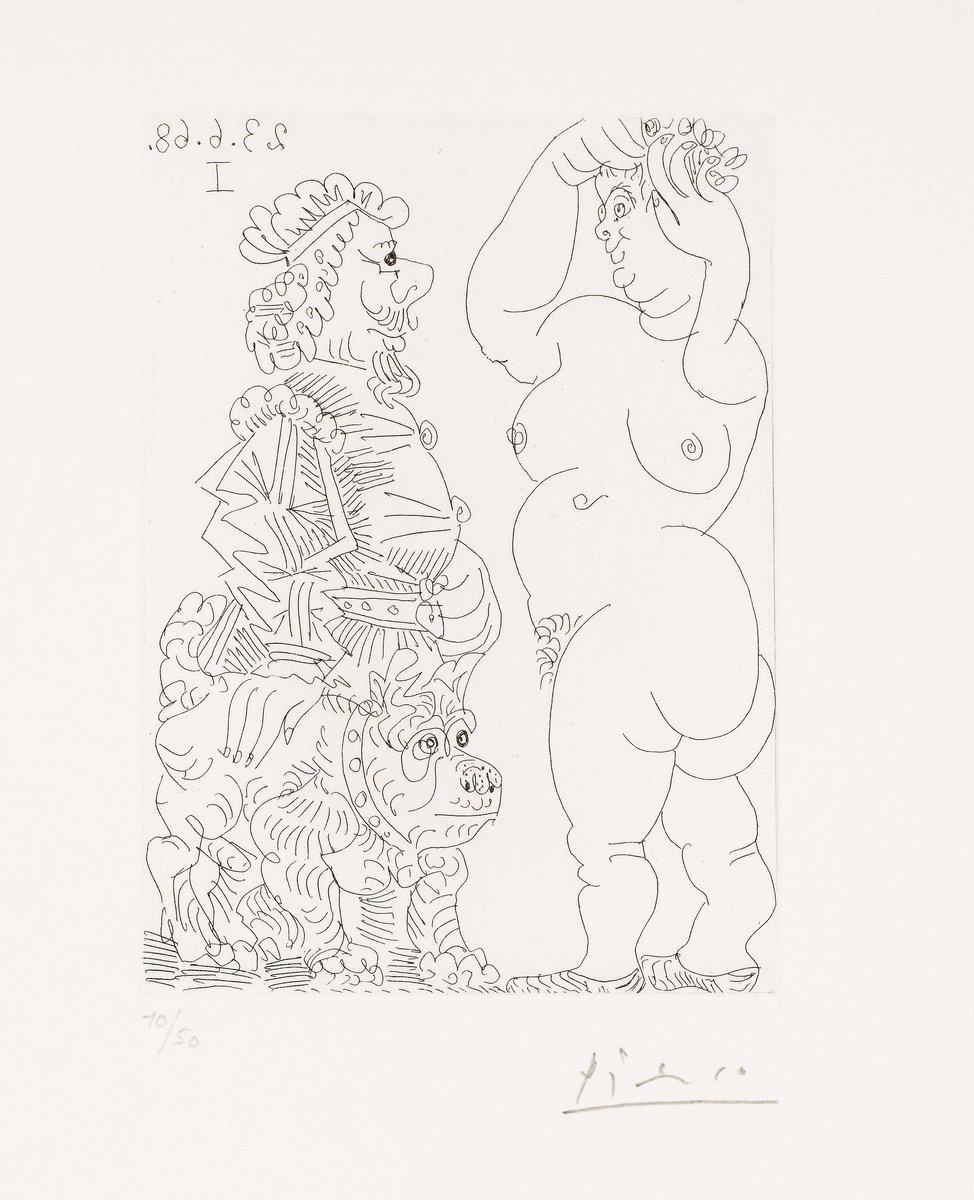 Пикассо Пабло, картина Большая проститутка и мужчина в рембрандтовском беретеПикассо Пабло<br>Репродукция на холсте или бумаге. Любого нужного вам размера. В раме или без. Подвес в комплекте. Трехслойная надежная упаковка. Доставим в любую точку России. Вам осталось только повесить картину на стену!<br>