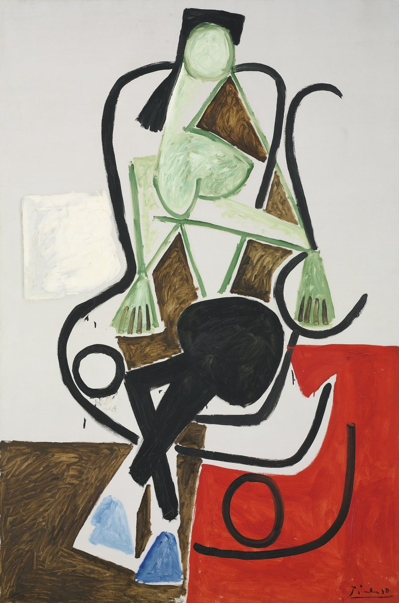 Пикассо Пабло, картина Женщина в кресле качалкеПикассо Пабло<br>Репродукция на холсте или бумаге. Любого нужного вам размера. В раме или без. Подвес в комплекте. Трехслойная надежная упаковка. Доставим в любую точку России. Вам осталось только повесить картину на стену!<br>