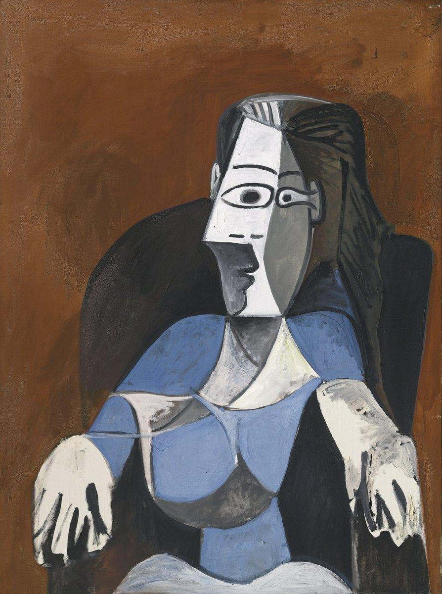 Пикассо Пабло, картина Женщина в черном креслеПикассо Пабло<br>Репродукция на холсте или бумаге. Любого нужного вам размера. В раме или без. Подвес в комплекте. Трехслойная надежная упаковка. Доставим в любую точку России. Вам осталось только повесить картину на стену!<br>