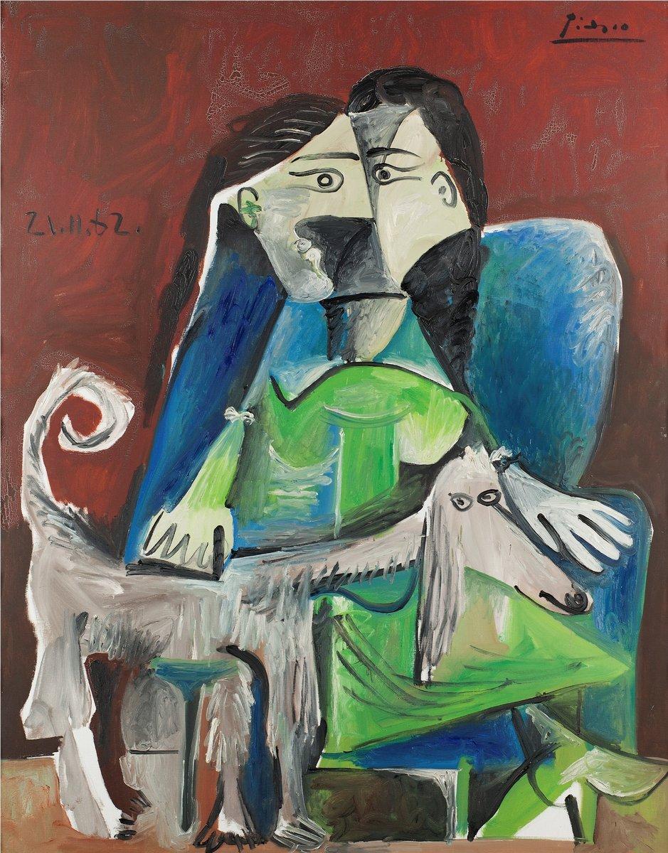 Пикассо Пабло, картина Женщина с собакойПикассо Пабло<br>Репродукция на холсте или бумаге. Любого нужного вам размера. В раме или без. Подвес в комплекте. Трехслойная надежная упаковка. Доставим в любую точку России. Вам осталось только повесить картину на стену!<br>