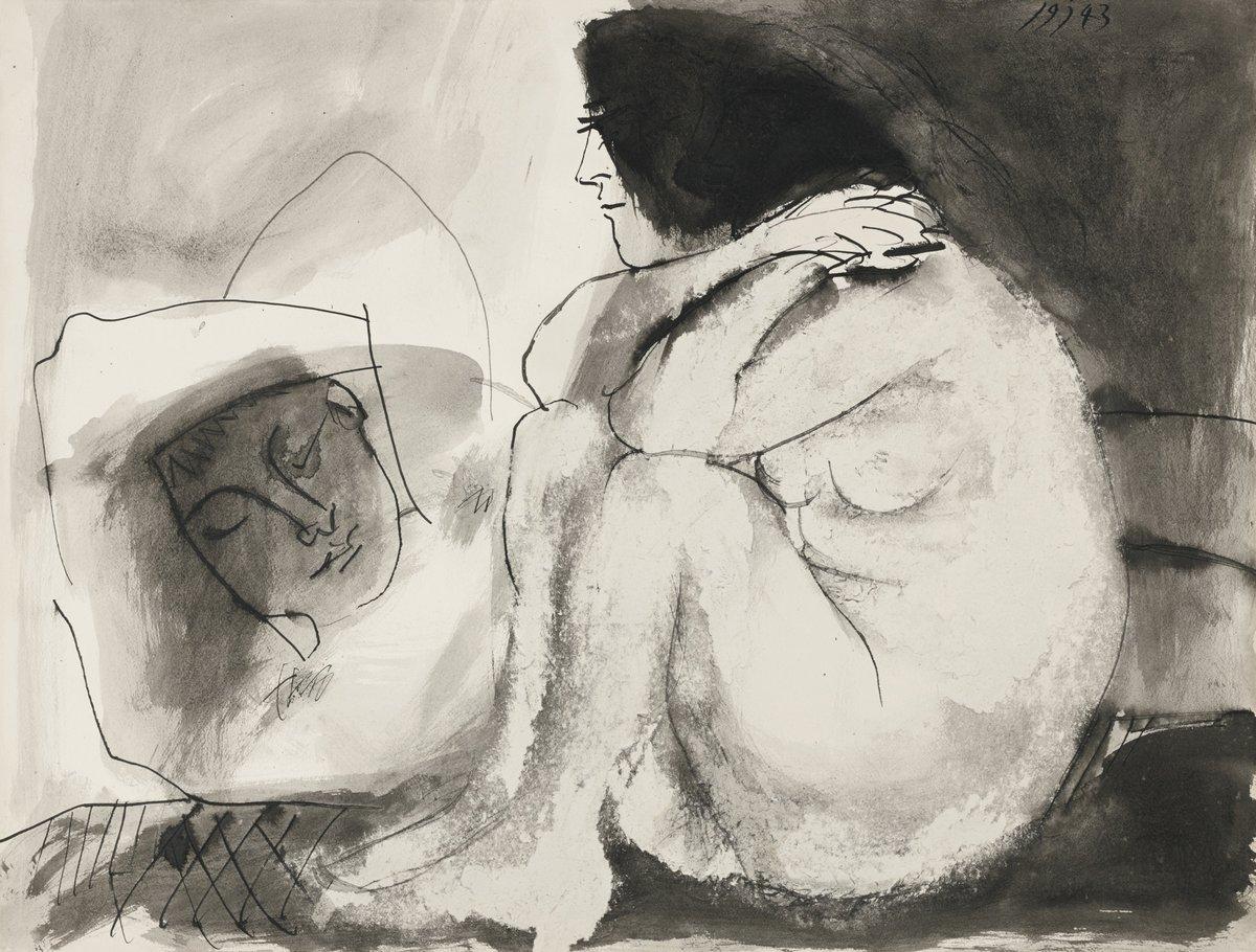 Пикассо Пабло, картина Лежащий мужчина и сидящая женщинаПикассо Пабло<br>Репродукция на холсте или бумаге. Любого нужного вам размера. В раме или без. Подвес в комплекте. Трехслойная надежная упаковка. Доставим в любую точку России. Вам осталось только повесить картину на стену!<br>