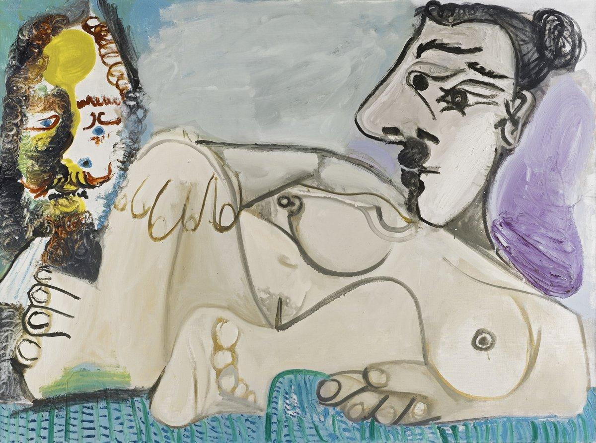 Пикассо Пабло, картина Мужчина и лежащая обнаженнаяПикассо Пабло<br>Репродукция на холсте или бумаге. Любого нужного вам размера. В раме или без. Подвес в комплекте. Трехслойная надежная упаковка. Доставим в любую точку России. Вам осталось только повесить картину на стену!<br>
