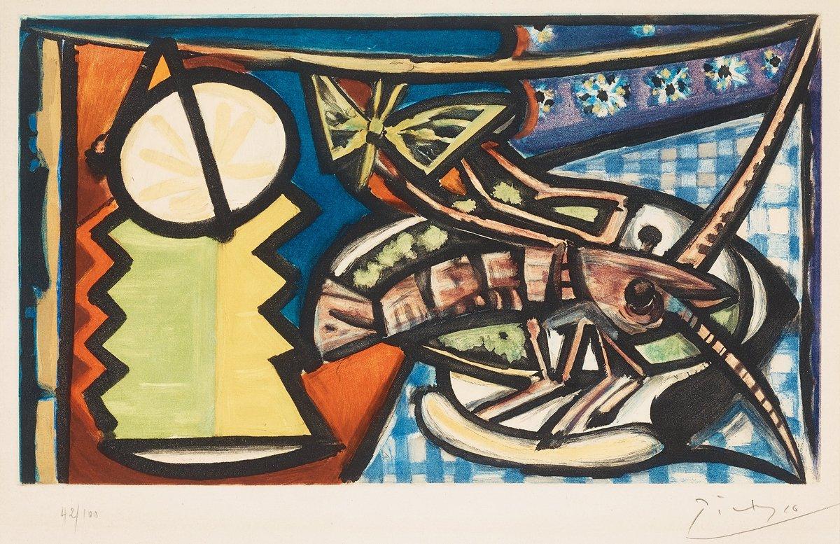 Пикассо Пабло, картина Натюрморт с лангустомПикассо Пабло<br>Репродукция на холсте или бумаге. Любого нужного вам размера. В раме или без. Подвес в комплекте. Трехслойная надежная упаковка. Доставим в любую точку России. Вам осталось только повесить картину на стену!<br>