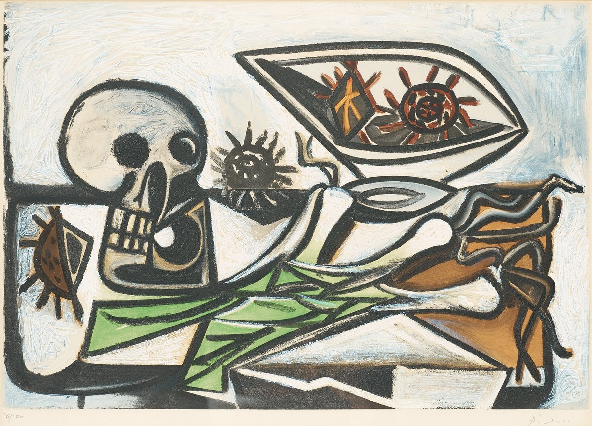 Пикассо Пабло, картина Натюрморт с черепомПикассо Пабло<br>Репродукция на холсте или бумаге. Любого нужного вам размера. В раме или без. Подвес в комплекте. Трехслойная надежная упаковка. Доставим в любую точку России. Вам осталось только повесить картину на стену!<br>