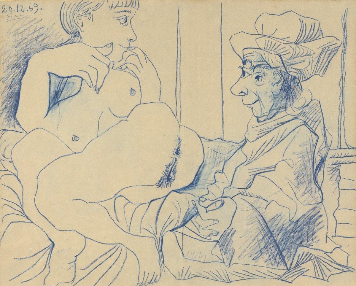 Пикассо Пабло, картина Обнаженная и сидящий мужчинаПикассо Пабло<br>Репродукция на холсте или бумаге. Любого нужного вам размера. В раме или без. Подвес в комплекте. Трехслойная надежная упаковка. Доставим в любую точку России. Вам осталось только повесить картину на стену!<br>