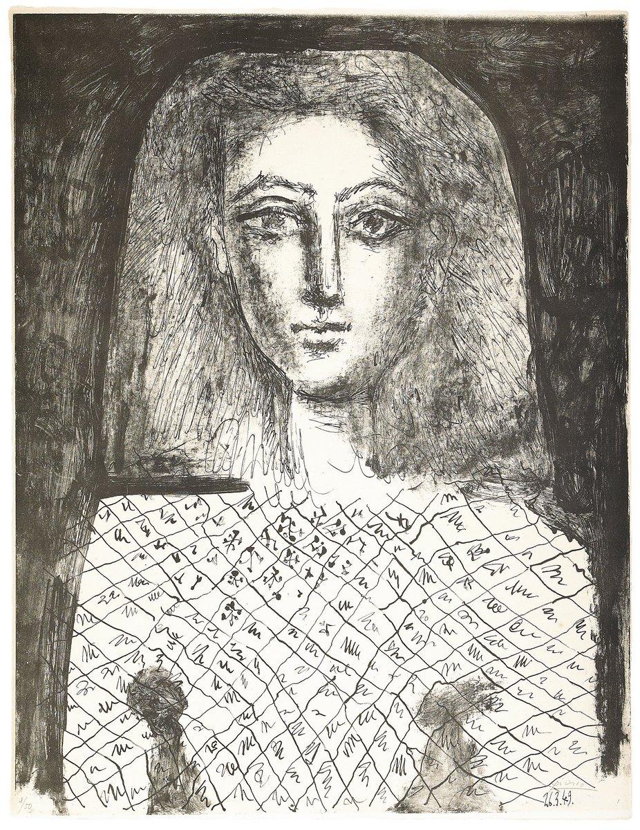 Пикассо Пабло, картина Портрет женщины в сеткеПикассо Пабло<br>Репродукция на холсте или бумаге. Любого нужного вам размера. В раме или без. Подвес в комплекте. Трехслойная надежная упаковка. Доставим в любую точку России. Вам осталось только повесить картину на стену!<br>
