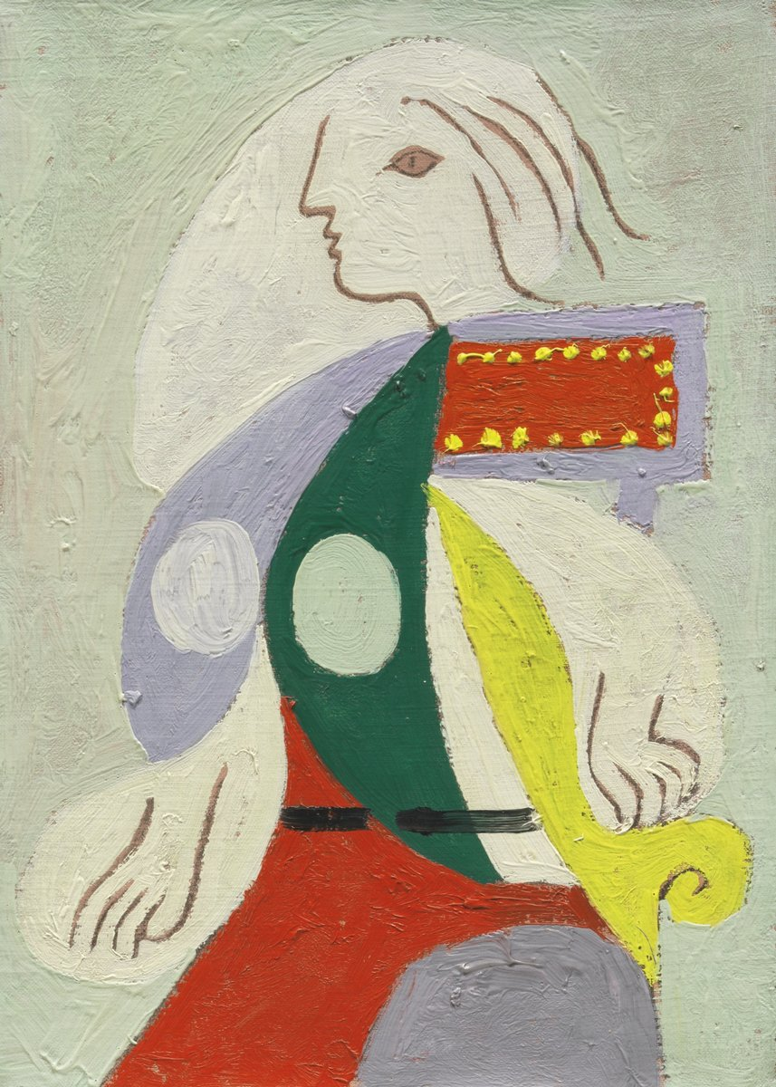 Пикассо Пабло, картина Портрет Марии-ТерезыПикассо Пабло<br>Репродукция на холсте или бумаге. Любого нужного вам размера. В раме или без. Подвес в комплекте. Трехслойная надежная упаковка. Доставим в любую точку России. Вам осталось только повесить картину на стену!<br>