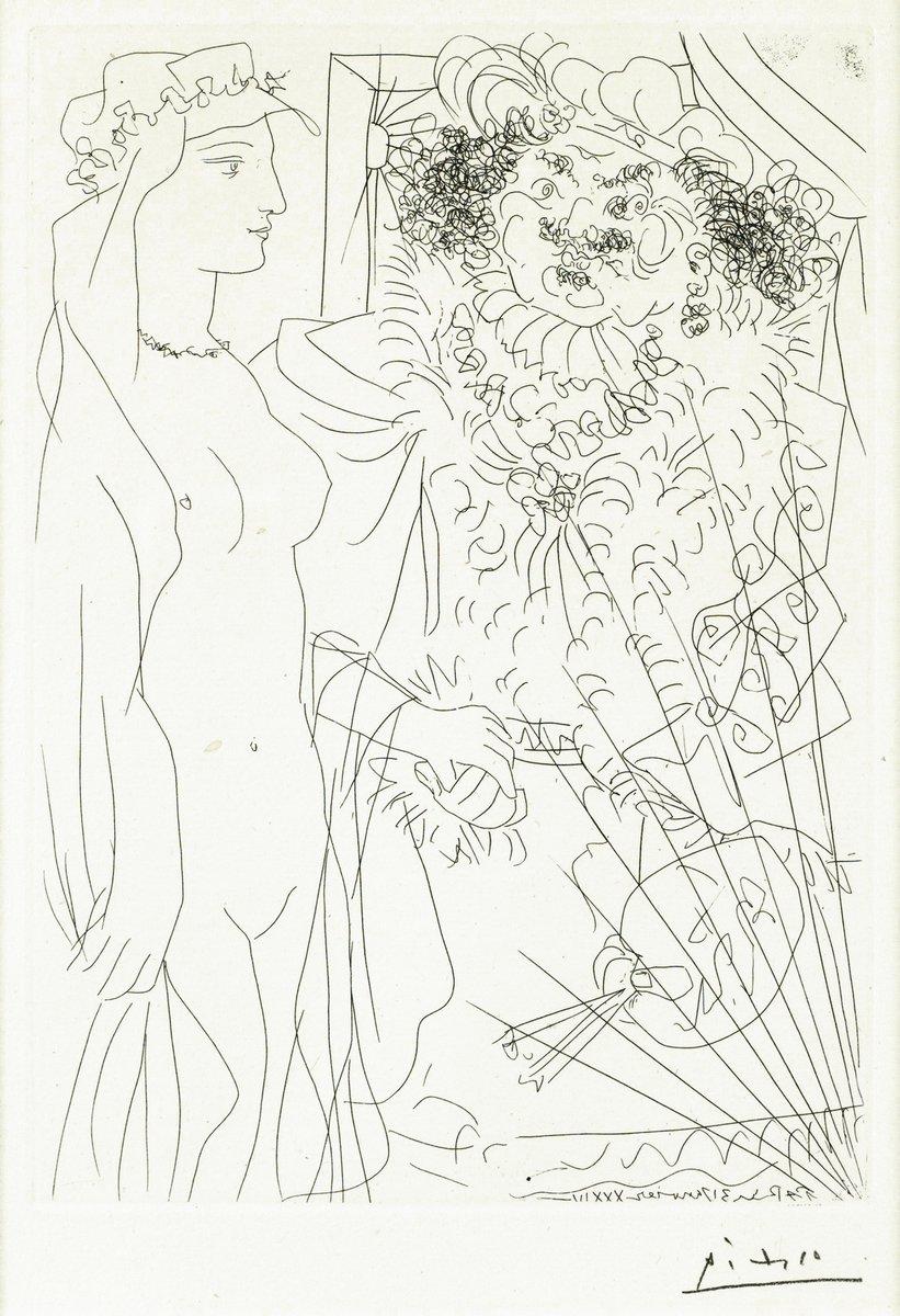 Пикассо Пабло, картина Рембрандт, держащий за руку обнаженнуюПикассо Пабло<br>Репродукция на холсте или бумаге. Любого нужного вам размера. В раме или без. Подвес в комплекте. Трехслойная надежная упаковка. Доставим в любую точку России. Вам осталось только повесить картину на стену!<br>