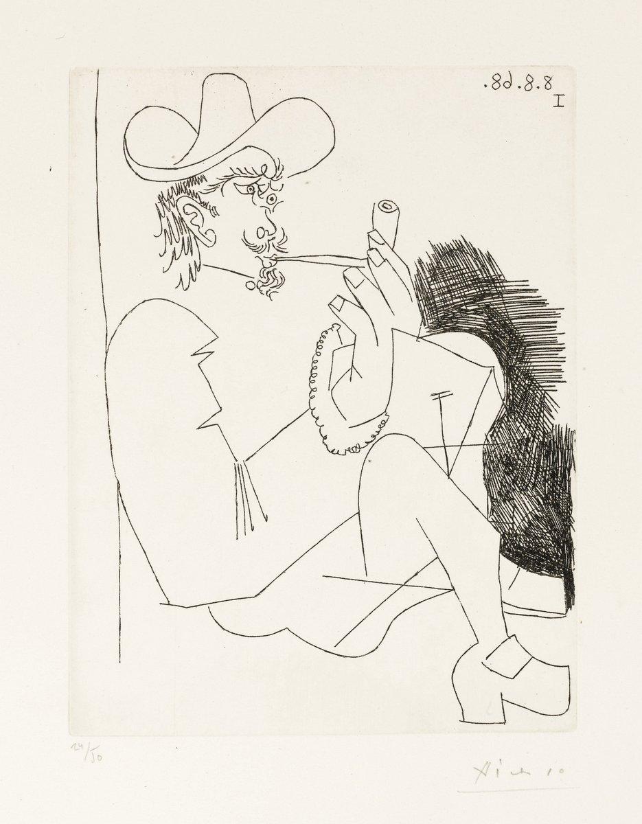 Пикассо Пабло, картина Рембрандтовский мужчина с трубкойПикассо Пабло<br>Репродукция на холсте или бумаге. Любого нужного вам размера. В раме или без. Подвес в комплекте. Трехслойная надежная упаковка. Доставим в любую точку России. Вам осталось только повесить картину на стену!<br>