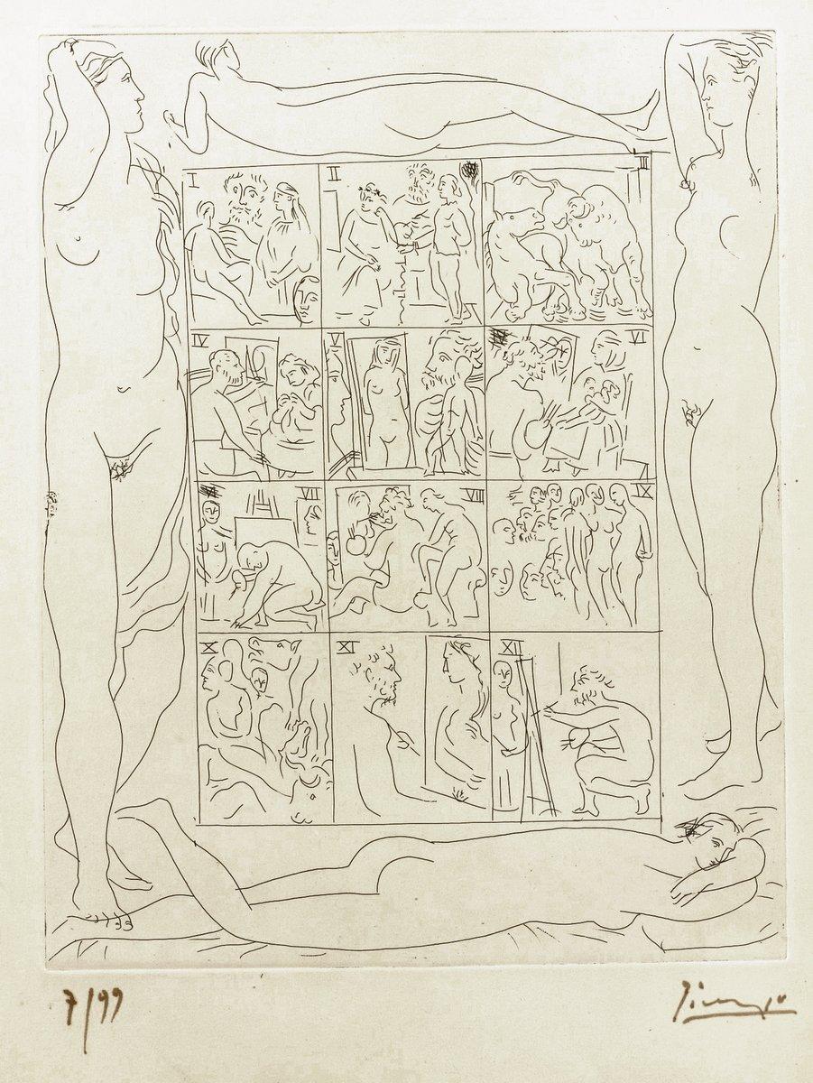 Пикассо Пабло, картина Рисунок к неизвестному шедевру БальзакаПикассо Пабло<br>Репродукция на холсте или бумаге. Любого нужного вам размера. В раме или без. Подвес в комплекте. Трехслойная надежная упаковка. Доставим в любую точку России. Вам осталось только повесить картину на стену!<br>