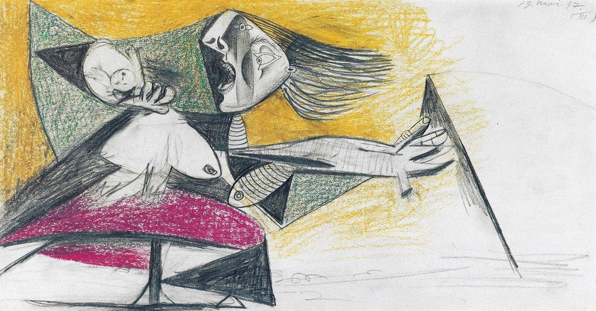 Пикассо Пабло, картина Эскиз к ГерникеПикассо Пабло<br>Репродукция на холсте или бумаге. Любого нужного вам размера. В раме или без. Подвес в комплекте. Трехслойная надежная упаковка. Доставим в любую точку России. Вам осталось только повесить картину на стену!<br>