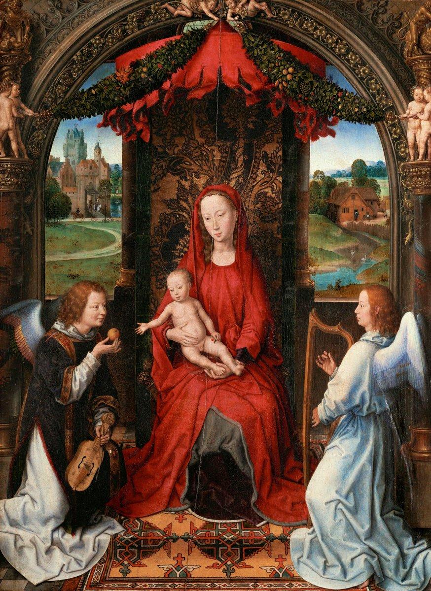 Мемлинг Ганс, картина Мадонна с младенцем и двумя музицирующими ангеламиМемлинг Ганс<br>Репродукция на холсте или бумаге. Любого нужного вам размера. В раме или без. Подвес в комплекте. Трехслойная надежная упаковка. Доставим в любую точку России. Вам осталось только повесить картину на стену!<br>