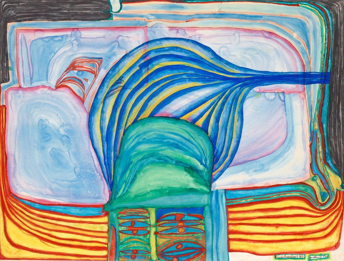 Художники, картина Глазная ванна, 26x20 см, на бумагеХундертвассер Фриденсрайх<br>Постер на холсте или бумаге. Любого нужного вам размера. В раме или без. Подвес в комплекте. Трехслойная надежная упаковка. Доставим в любую точку России. Вам осталось только повесить картину на стену!<br>