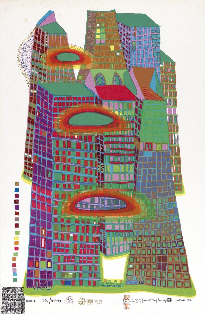 Художники, картина Доброе утро, город, 20x30 см, на бумагеХундертвассер Фриденсрайх<br>Постер на холсте или бумаге. Любого нужного вам размера. В раме или без. Подвес в комплекте. Трехслойная надежная упаковка. Доставим в любую точку России. Вам осталось только повесить картину на стену!<br>