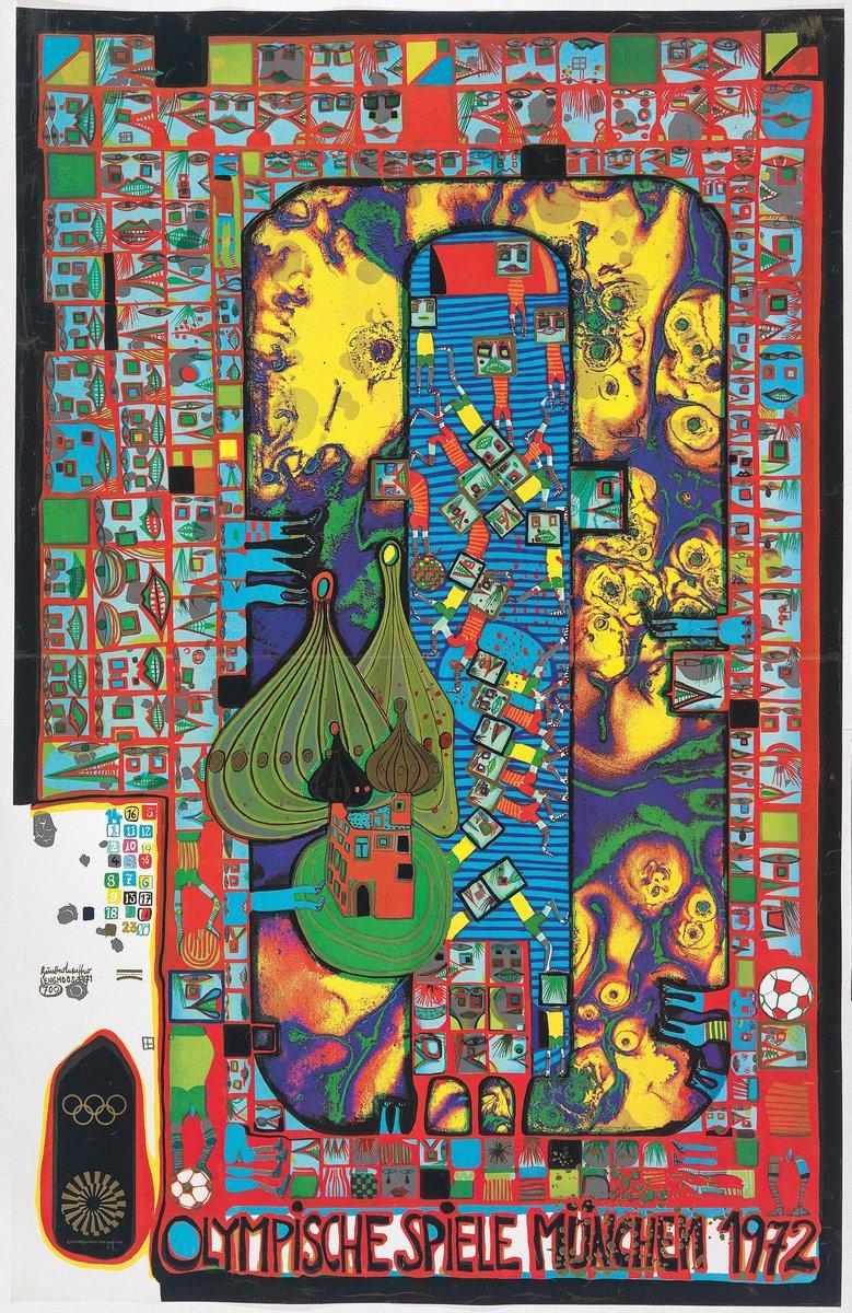 Художники, картина Олимпийские игры в Мюнхене 1972, 20x31 см, на бумагеХундертвассер Фриденсрайх<br>Постер на холсте или бумаге. Любого нужного вам размера. В раме или без. Подвес в комплекте. Трехслойная надежная упаковка. Доставим в любую точку России. Вам осталось только повесить картину на стену!<br>
