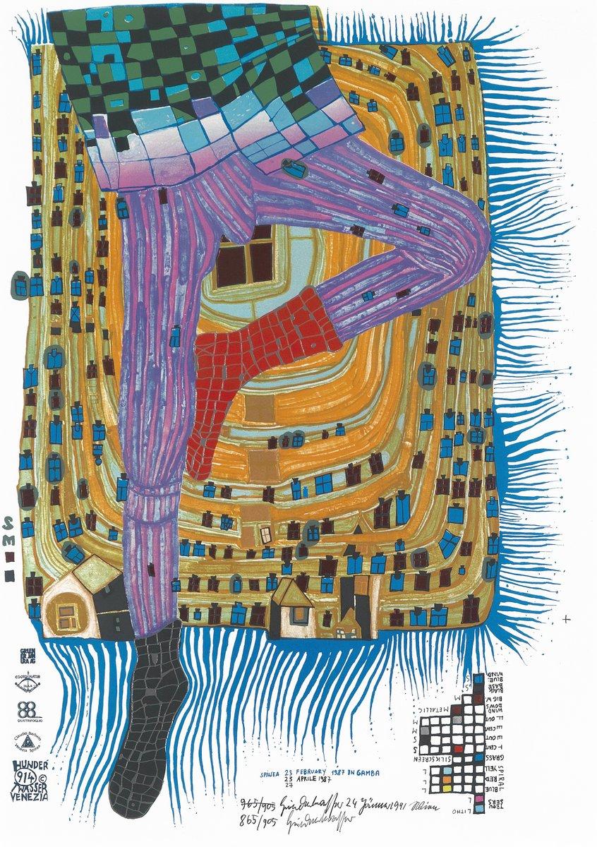 Художники, картина Спинеа 23, февраль 1987 в Гамбе, 20x28 см, на бумагеХундертвассер Фриденсрайх<br>Постер на холсте или бумаге. Любого нужного вам размера. В раме или без. Подвес в комплекте. Трехслойная надежная упаковка. Доставим в любую точку России. Вам осталось только повесить картину на стену!<br>