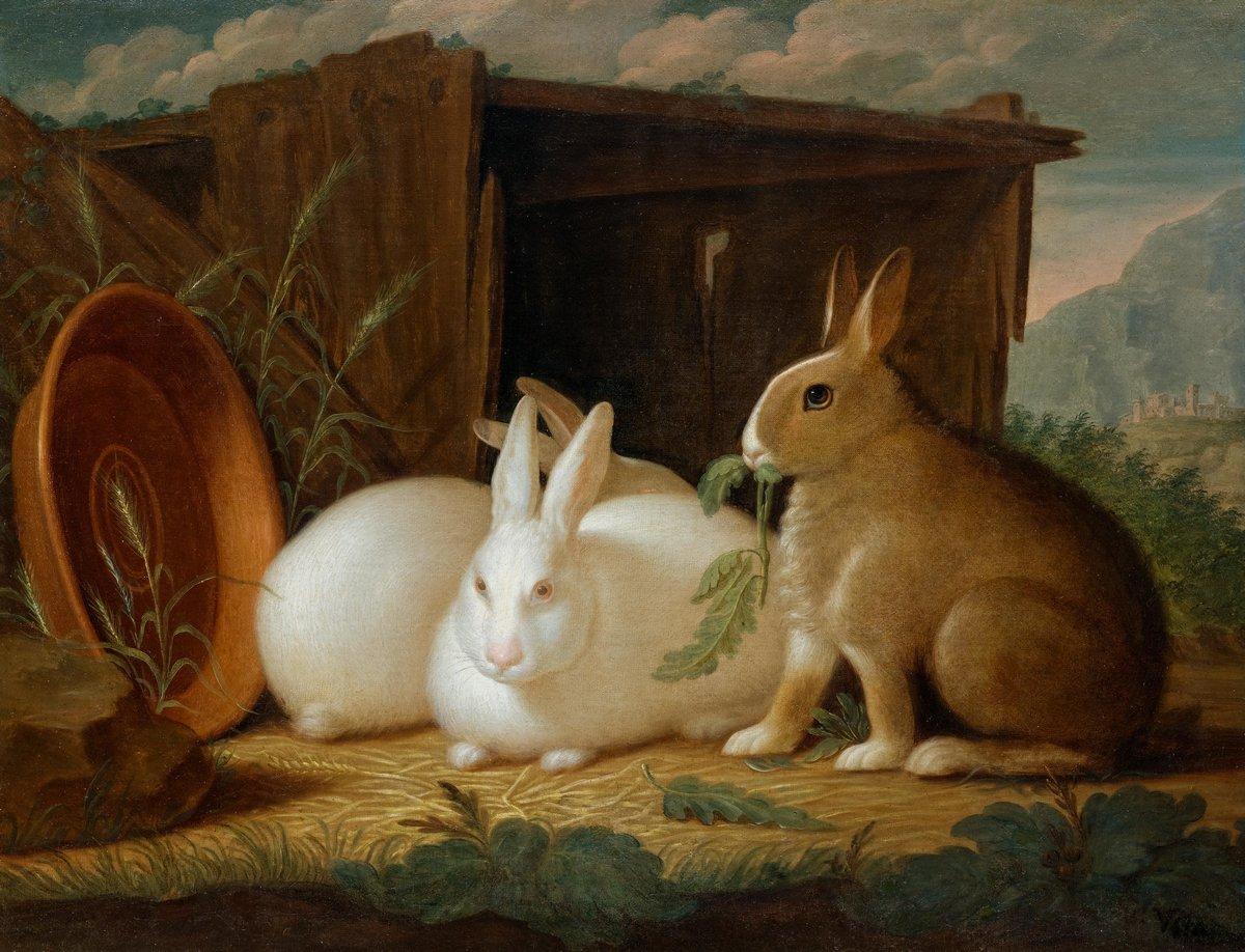 Животные, картина Круг Петера Венцеля «Три кролика»Животные<br>Репродукция на холсте или бумаге. Любого нужного вам размера. В раме или без. Подвес в комплекте. Трехслойная надежная упаковка. Доставим в любую точку России. Вам осталось только повесить картину на стену!<br>