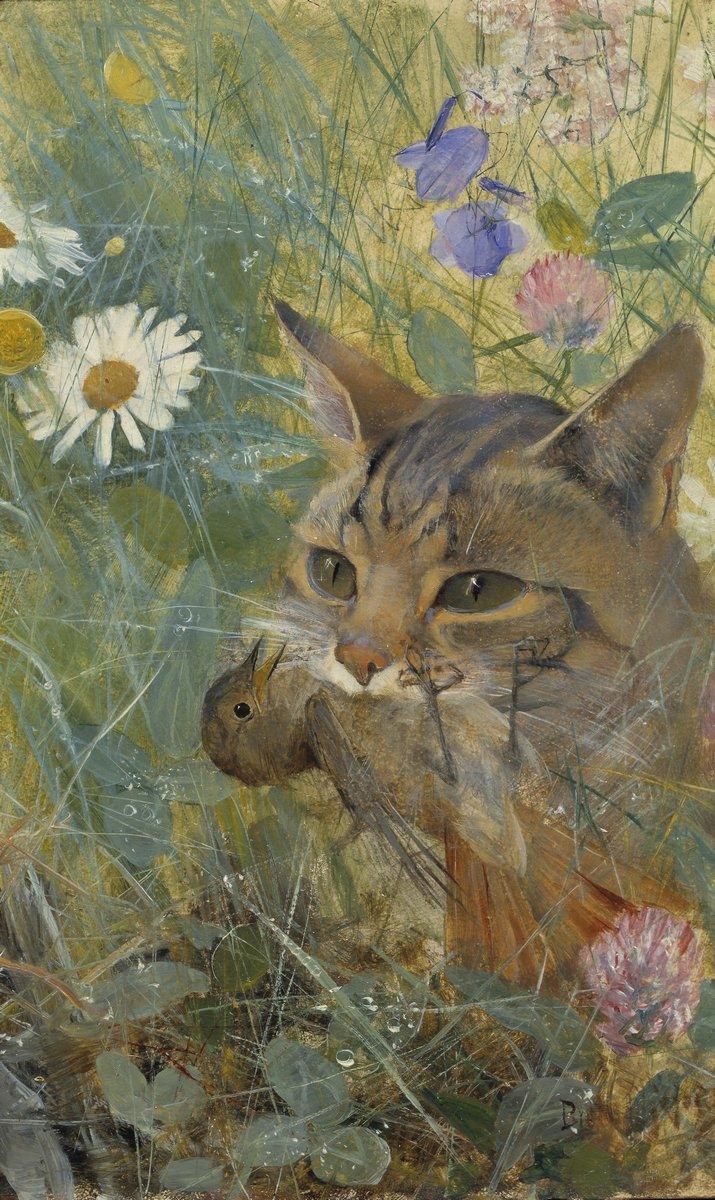 Животные, картина Лильефорс Бруно «Кошка и птенец»Животные<br>Репродукция на холсте или бумаге. Любого нужного вам размера. В раме или без. Подвес в комплекте. Трехслойная надежная упаковка. Доставим в любую точку России. Вам осталось только повесить картину на стену!<br>