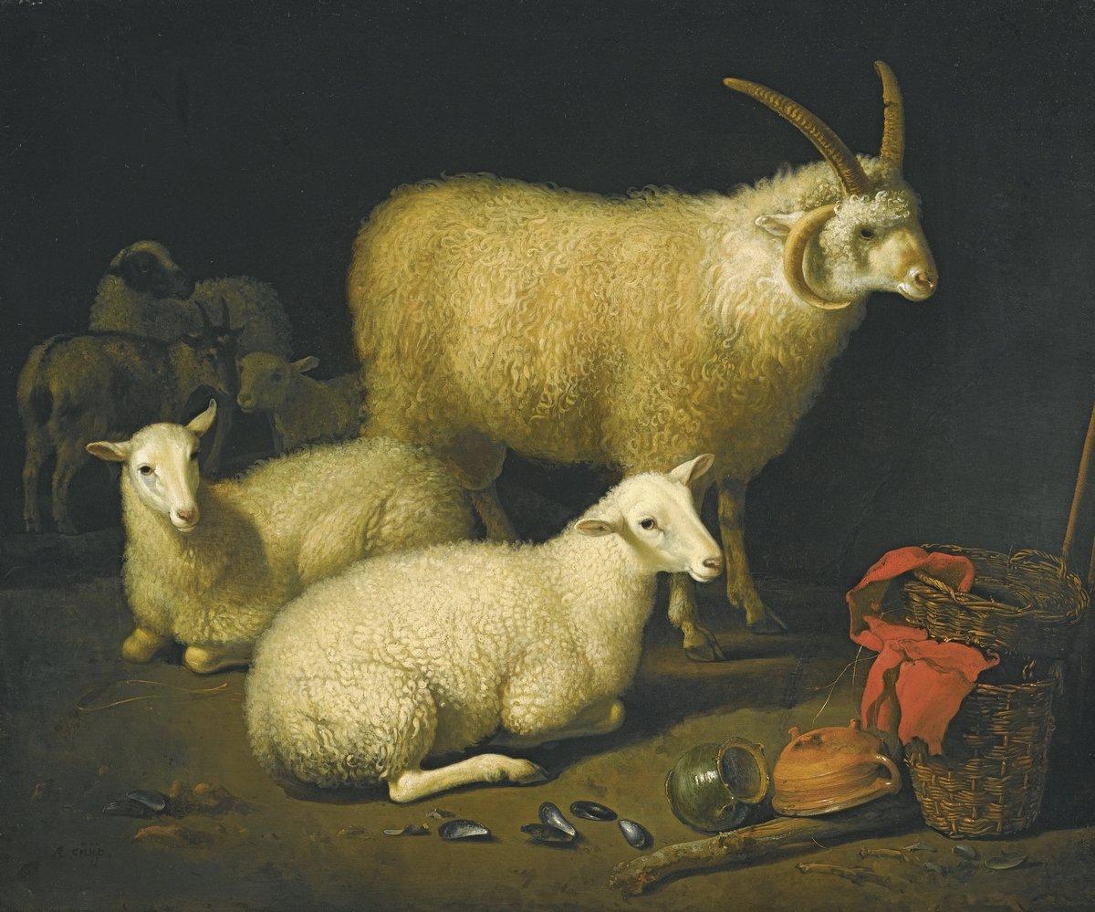 Животные, картина Неизвестный художник «Овцы»Животные<br>Репродукция на холсте или бумаге. Любого нужного вам размера. В раме или без. Подвес в комплекте. Трехслойная надежная упаковка. Доставим в любую точку России. Вам осталось только повесить картину на стену!<br>