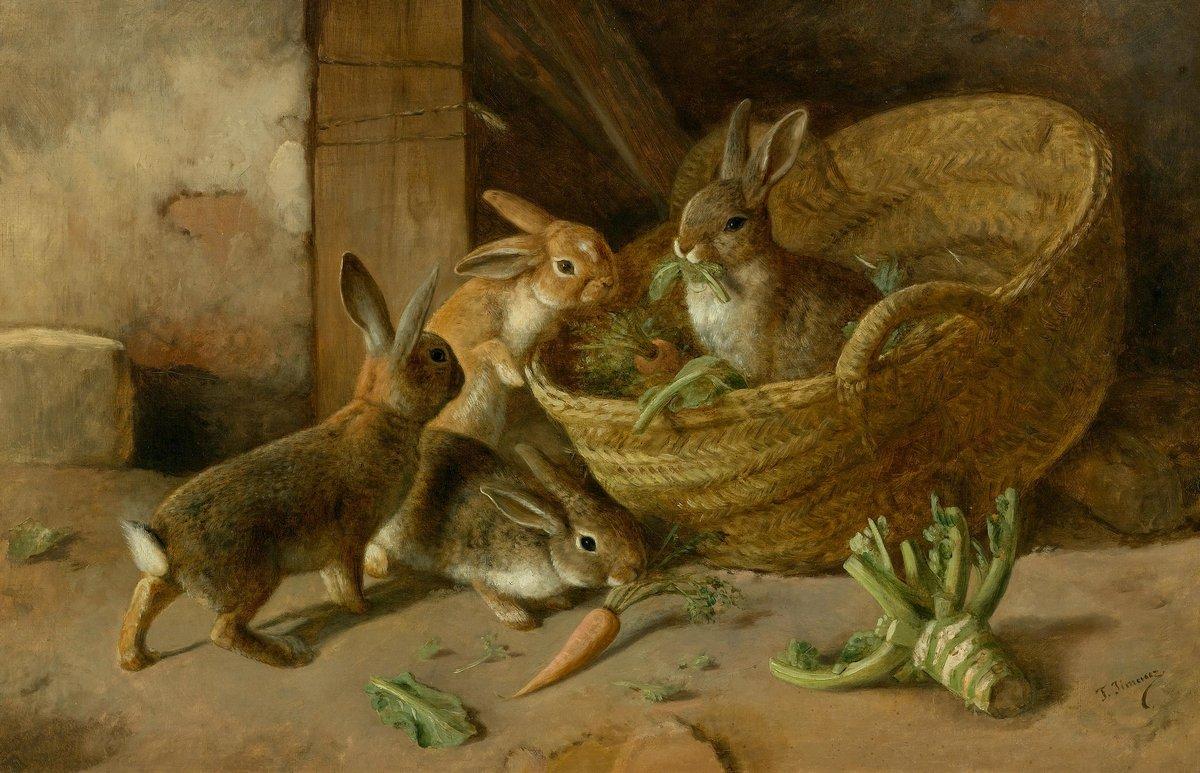 Животные, картина Хименес Федерико «Кролики»Животные<br>Репродукция на холсте или бумаге. Любого нужного вам размера. В раме или без. Подвес в комплекте. Трехслойная надежная упаковка. Доставим в любую точку России. Вам осталось только повесить картину на стену!<br>