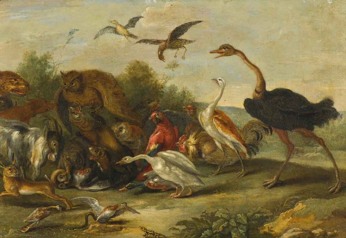 Птицы, картина Ван Кессель Ян «Битва птиц и животных»Птицы<br>Репродукция на холсте или бумаге. Любого нужного вам размера. В раме или без. Подвес в комплекте. Трехслойная надежная упаковка. Доставим в любую точку России. Вам осталось только повесить картину на стену!<br>