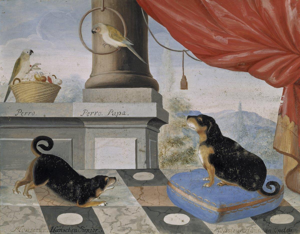 Птицы, картина Трелотт Филип «Две собаки и два попугая»Птицы<br>Репродукция на холсте или бумаге. Любого нужного вам размера. В раме или без. Подвес в комплекте. Трехслойная надежная упаковка. Доставим в любую точку России. Вам осталось только повесить картину на стену!<br>
