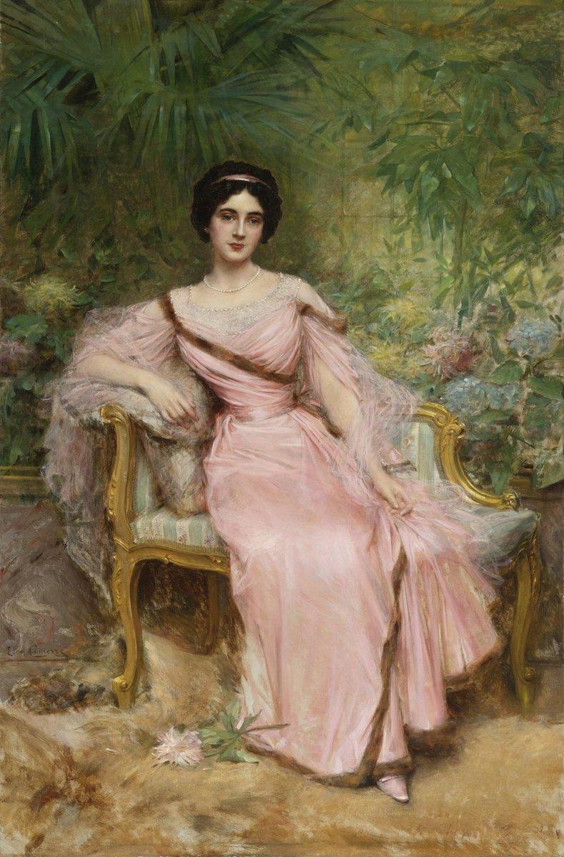 Искусство, картина Комерре Леон «Женщина в розовом платье», 20x30 см, на бумагеРомантика в живописи<br>Постер на холсте или бумаге. Любого нужного вам размера. В раме или без. Подвес в комплекте. Трехслойная надежная упаковка. Доставим в любую точку России. Вам осталось только повесить картину на стену!<br>