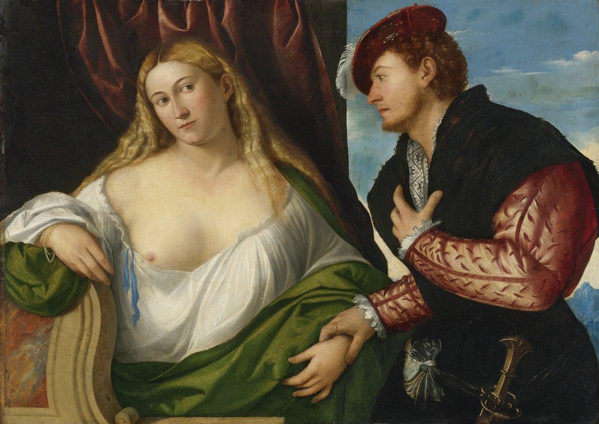 Романтика в живописи, картина Лицинио Бернардино «Дама с любовником»Романтика в живописи<br>Репродукция на холсте или бумаге. Любого нужного вам размера. В раме или без. Подвес в комплекте. Трехслойная надежная упаковка. Доставим в любую точку России. Вам осталось только повесить картину на стену!<br>