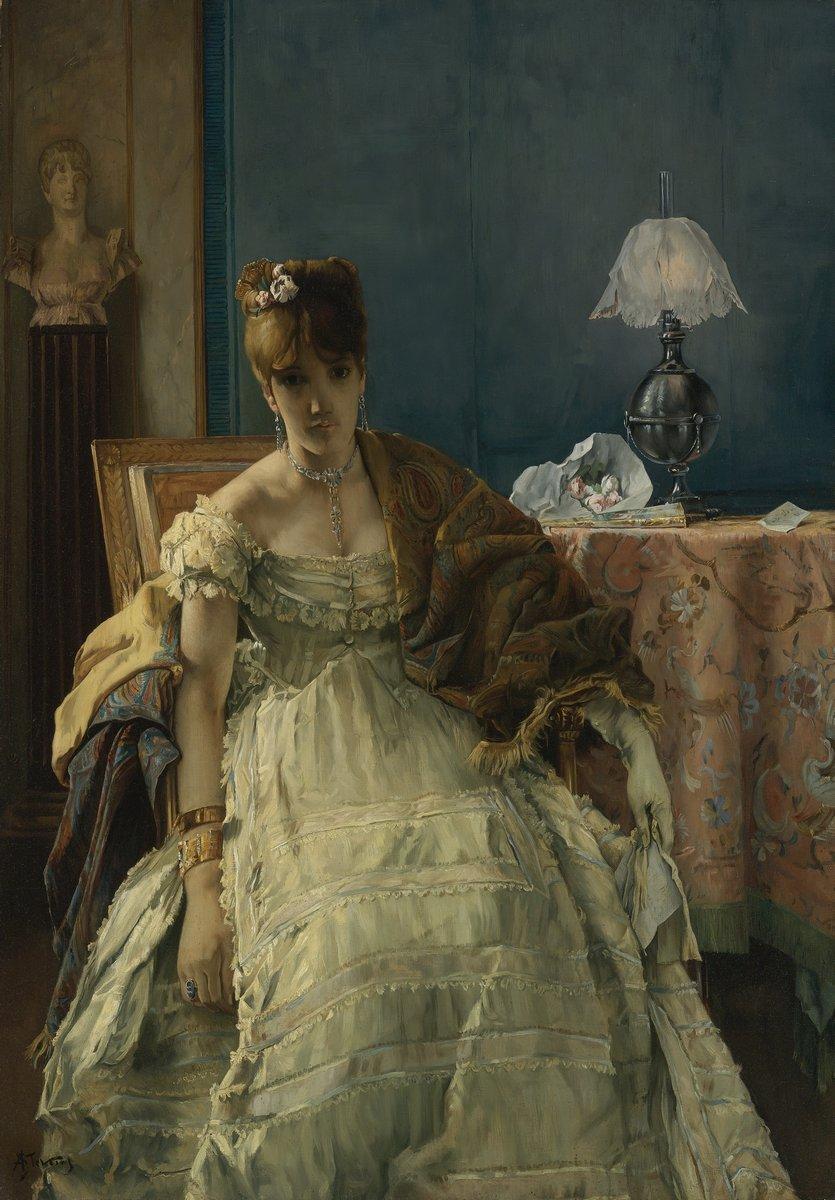 Романтика в живописи, картина Стивенс Альберт «Дама в белом платье»Романтика в живописи<br>Репродукция на холсте или бумаге. Любого нужного вам размера. В раме или без. Подвес в комплекте. Трехслойная надежная упаковка. Доставим в любую точку России. Вам осталось только повесить картину на стену!<br>