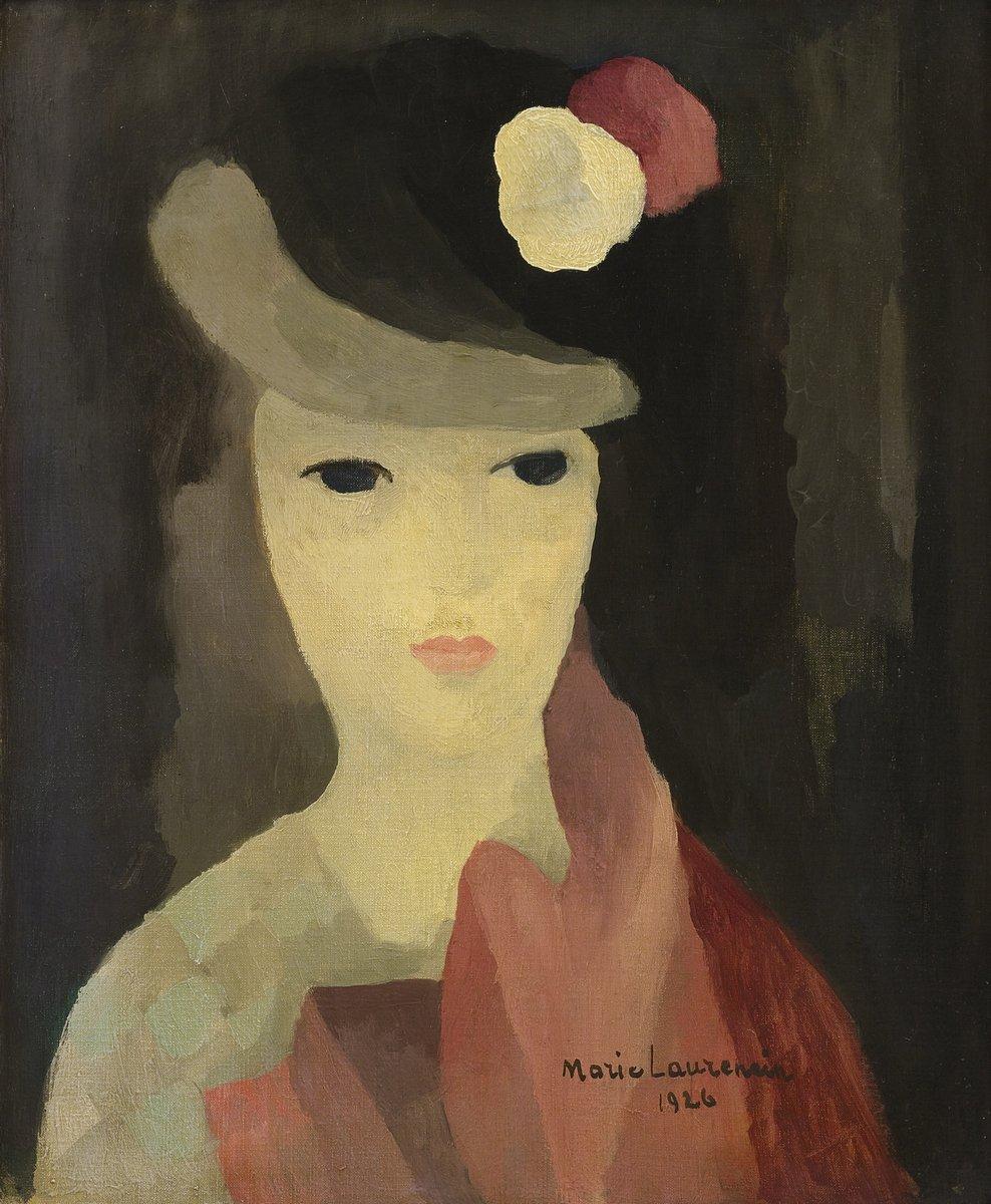 Лорансен Мари, картина Женщина с белой и красной розами на шляпеЛорансен Мари<br>Репродукция на холсте или бумаге. Любого нужного вам размера. В раме или без. Подвес в комплекте. Трехслойная надежная упаковка. Доставим в любую точку России. Вам осталось только повесить картину на стену!<br>