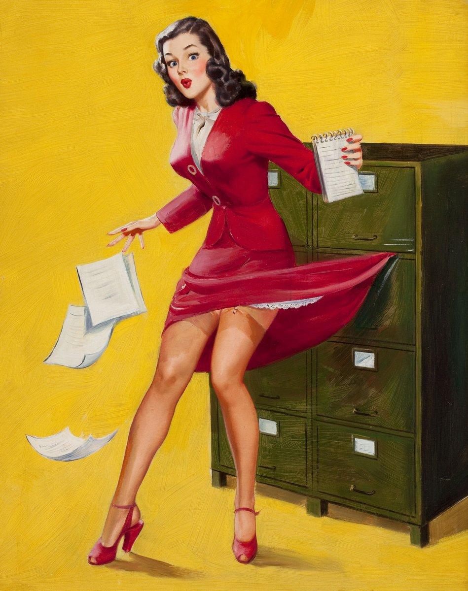 Буль Альфред Лесли «Платье зацепилось», 20x25 см, на бумагеПин-ап<br>Постер на холсте или бумаге. Любого нужного вам размера. В раме или без. Подвес в комплекте. Трехслойная надежная упаковка. Доставим в любую точку России. Вам осталось только повесить картину на стену!<br>
